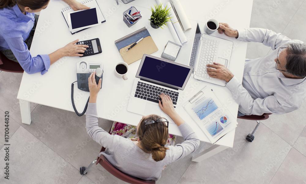 Plakat Praca w biurze
