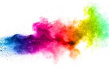 Multicolored Powder Explosion ...
