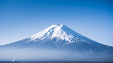 Close Up Peak Of Fuji Mountain...
