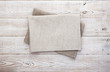 canvas print picture - Napkin on table in perspective. Napkin close up top view mock up for design. Place for text