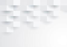 White Geometric Background.