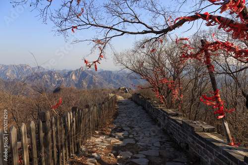 Photo sur Toile Muraille de Chine The Great Wall of China. The Great Wall of China is the world's longest wall and biggest ancient architecture