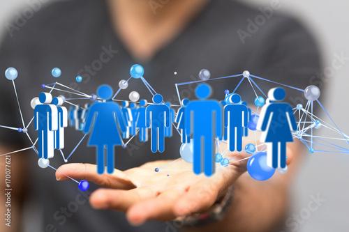Naklejka Sieć pracowników