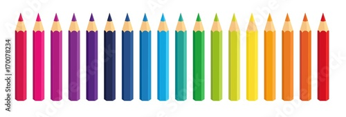 Fotografering Vector collection crayons colored pencil loosely arranged