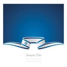 Abstract Background Israel Flag Ribbon