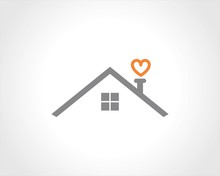 Home Roof Heart Logo
