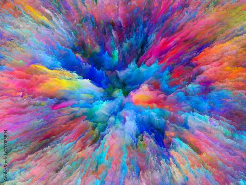 Zdjęcie XXL Propagowanie surrealistycznej farby