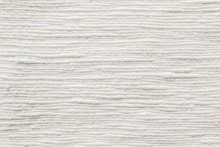 White Cotton Fabric Cloth Natural Hand-woven Burlap Texture Linen Textile Background In Cream Color