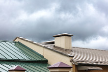 New Metal Roofs Of Old Houses ...
