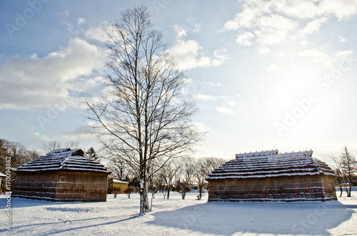 Photo ainu house