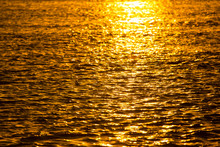 Golden Sunset On A River In Th...