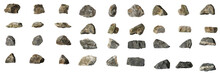 Group Set Stones Isolated On W...