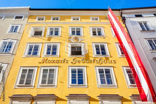 Vászonkép Mozarts birthplace geburtshaus, Salzburg