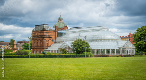 The People's Palace & Winter Garden in Glasgow, Scotland.