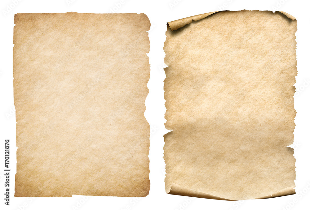 Fototapeta old paper sheets isolated