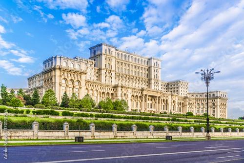 Fotografia  The Palace of the Parliament, Bucharest, Romania.