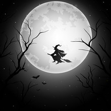 Halloween Background With Flyi...
