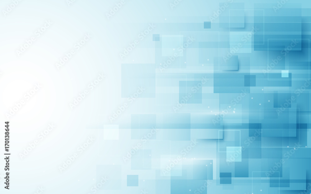 Fototapeta Abstract repeating rectangles shape on blue and white background
