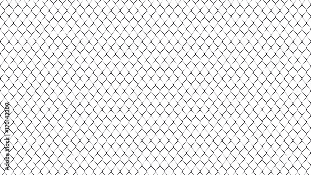 Fototapeta metal mesh fence. background of metal mesh isolated on white background
