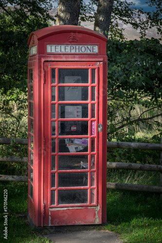 Poster London red phone booth