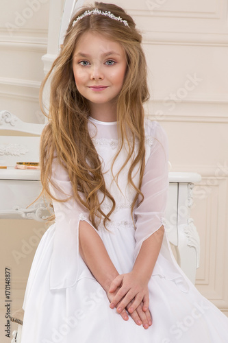 Beautiful Girl Little Princess Long Hair Curly And Amazing