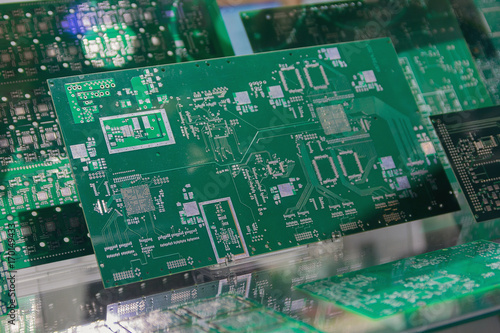 Pleasant Printed Circuit Board With Different Electronic Components Stock Wiring Digital Resources Bemuashebarightsorg