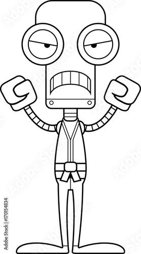 Photo  Cartoon Angry Karate Robot