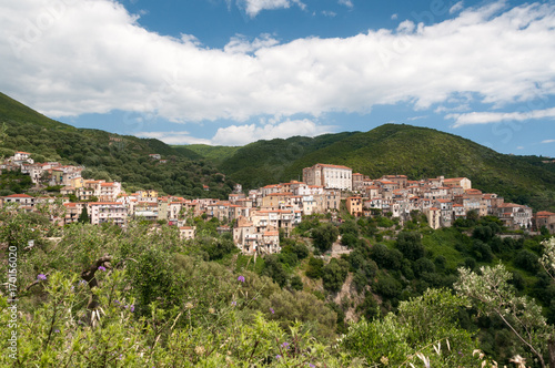 Photo Stadtansicht von Pisciotta auf dem Cilento in Kampanien