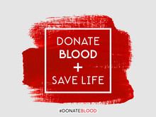 Donate Blood Save Life Text Si...