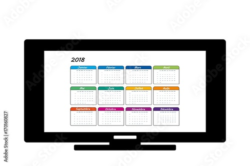Illustration Calendrier.Calendrier Buy This Stock Illustration And Explore Similar