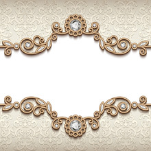Vintage Diamond Jewellery Card, Flourish Decoration