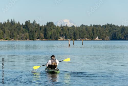 Valokuva  kayak on puget sound