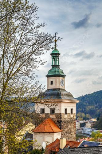 Photo  Black tower, Loket, Czech republic