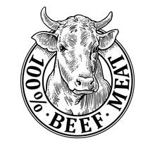 Cows Head. 100 % Beef Meat Let...