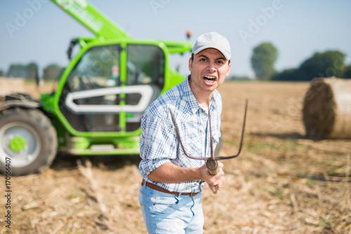 Fényképezés  Angry Farmer