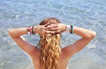 Greek Jewelry Advertisement On The Beach