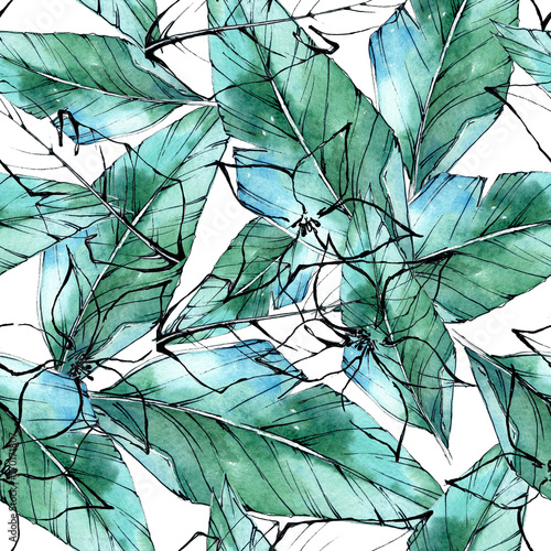 wzor-z-tropikalnych-lisci-w-stylu-akwareli