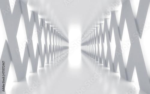 bialy-korytarz-ze-swiatlami