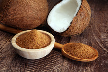 Scoop Of Brown Sugar With Coco...