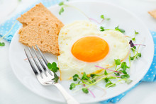 Healthy Breakfast. Fried Heart...