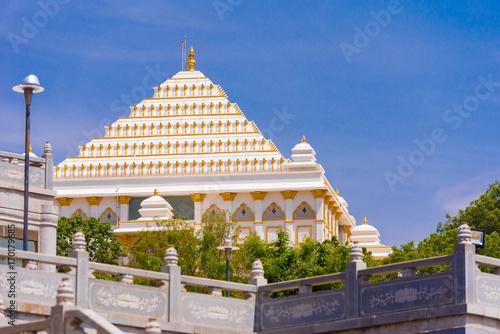 View of the beautiful Indian building, Puttaparthi, Andhra Pradesh, India Wallpaper Mural