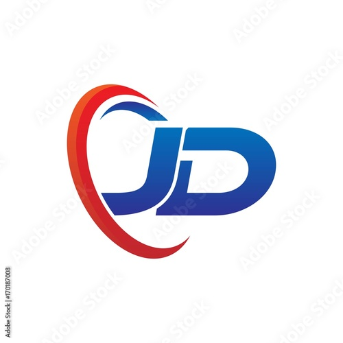 modern dynamic vector initial letters logo jd with circle swoosh red blue buy this stock vector and explore similar vectors at adobe stock adobe stock modern dynamic vector initial letters