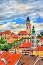 View Of Cesky Krumlov Town, A ...