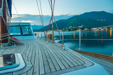 A Luxury Yacht Sails Through T...