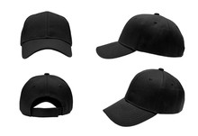 Blank Black Baseball Hat 4 Vie...