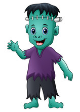 Halloween Frankenstein Cartoon
