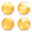 Vector Globe Gold