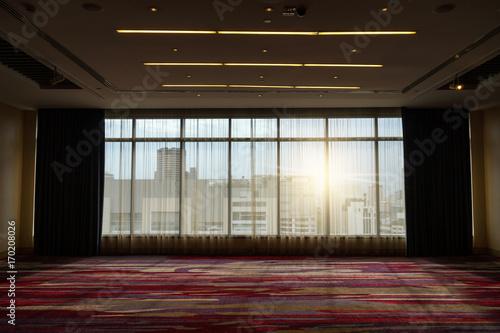 Fototapeta silhouette image of interior space room obraz na płótnie
