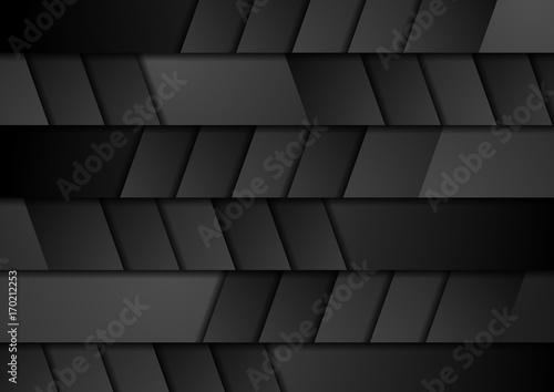 Fotobehang Stof Black geometric technology abstract background