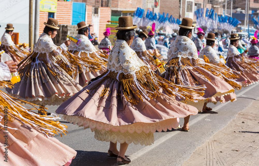 Fototapety, obrazy: Peruvian dance
